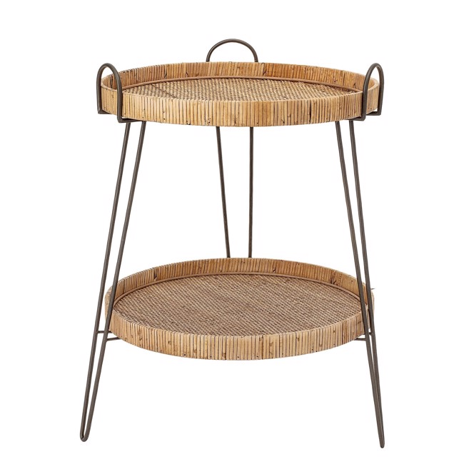 Image of   Creative Collection Sidebord, Natur, Rattan Ø57 cm fra Bloomingville